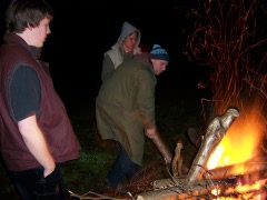 Lagerfeuer am Dieksee